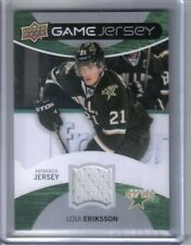 2012-13 UPPER DECK GAME JERSEY #GJ-LE LOUI ERIKSSON GAME USED JERSEY CARD