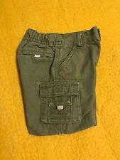 Baby Multi pocket Green denim Shorts snap crotch ~ Sz 3-6 M ~ by Gymboree