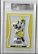 Joe Burrow 2020 Leaf Metal Draft Clear Gold Slabbed Pre-Production Proof 1/1