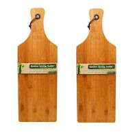 Paddle Shape Bamboo Wooden Chopping Cutting Cheese Serving Board