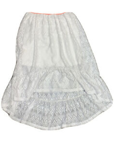 """Justice Girls Ivory Lace Lined Skirt Size 10 """"Gorgeous"""""""