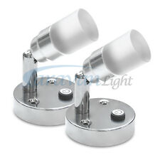 2X LED Mini Spot Light for Bed Reading Caravan Motorhome RV Bedside Wall Mounted