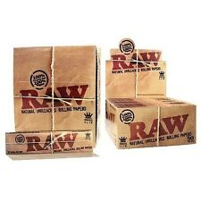 50 RAW KING SIZE SLIM ROLLING PAPERS FULL BOX = 50 BOOKLETS