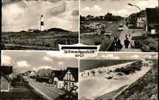 Wenningstedt ~1950/60 Sylt Nord-Friesland Mehrbildkarte Leuchtturm Autos Nordsee