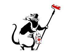 A3 Art Poster -  Painter Rat  -  Banksy Print