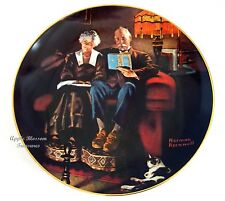 """""""Evening'S Ease""""~Knowles Ltd Ed~Norman Rockwell Collector Plate 1983~Mint Cond"""