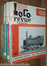 LOCO REVUE - Lotto di 36 riviste francesi treni ferrovie modellismo locomotive