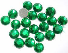 144 ss6 EMERALD iron-on rhinestone crystal applique gem