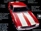 1968 Chevy Camaro Z28 Original Ad Ssrs350302doorhooddecalsteering Wheel