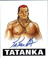 Tatanka TAT 2012 Leaf Originals Wrestling Authentic On Card Autograph WWE DWC