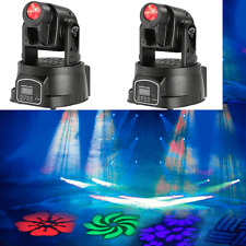 2PCS 50W RGB LED Stage Light Moving Head Gobo Pattern Lamp for Disco A4G4