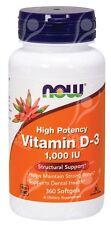 Now Foods, Vitamina D3, alta potencia - 1000Ui x360 cápsulas blandas