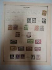 Lot of 24 Vintage Hungary Postage Stamps 1901-1919 - On Page - Make an Offer
