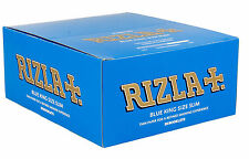 Blue King Size Slim Rizla Genuine Cigarette Rolling Smoking Rolling Paper 50pack