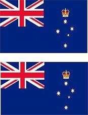 2x sticker Adesivo Adesivi decal macbook Vinyl auto bandiera Victoria australia