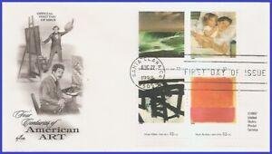 USA3 #3236 U/A ARTCRAFT 2 FDC PB4  Four Centuries of American Art