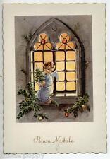 Angelo con Alberello alla Finestra Cute Angel at Window PC Circa 1950