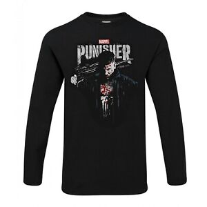 Officially Licensed Marvel's The Punisher Blood Long Sleeve T-Shirt S-XXL Sizes