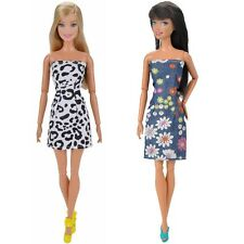 2 Pcs Doll Clothes Casual Wear Mini Dress Skirt Dating Outfit For Barbie Dolls A