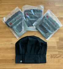 (Lot of 3) Chef Works Black Chef Hat Bhatblk0 One Size Fits Most