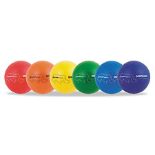 "Champion Sports Rhino Skin Dodge Ball Set 7"" Diameter Assorted 6 Balls/Set"