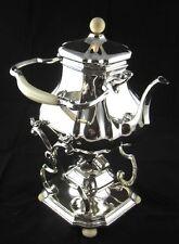 Teekanne auf Rechaud mit Brenner Holland Anfang 19.Jhd 833er Silber Antik