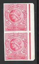De La Rue 1910 Minerva head colour trail, imperf chalk paper brt carmine UMM