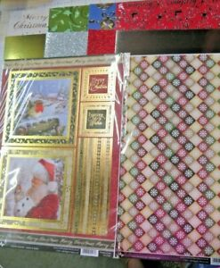 10 x A4 Christmas Card Craft Pack Clearance