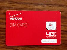 Verizon Wireless 4G Lte Micro Sim Prepaid Post paid for Lg Lg G2 mini, G3, G3 S