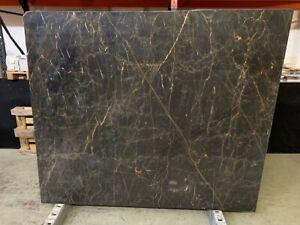 Naturstein Marmor Nero Dorato / New Port Saint Laurent Unmaßplatten Preis pro QM