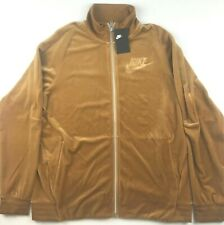 Nike Mens Large Gold Velour Loose Fit Full Zip OG Elemental Activewear Jacket