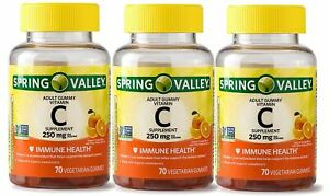 Spring Valley Adult Vitamin C 70 Gummies  Your Choice!!!!!!!!