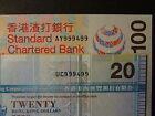 HONG KONG 2009 HSBC $20, 2003 CB $100 ALL MATCHING # 999499, ULTRA GEM UNC