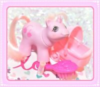 ❤️My Little Pony MLP 1987 G1 VTG Newborn Twin Sniffles Pink Hair Baby Mittens❤️