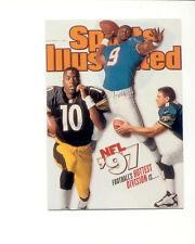 1999 Sports Illustrated STEVE MCNAIR KORDELL STEWART Steelers Oilers Covers Card