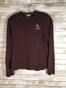 Abercrombie & Fitch Muscle Long Sleeve Pullover Boys Size L Large Soft Cotton