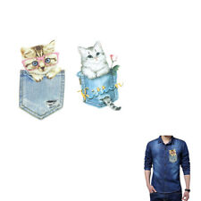Cat Patches For Clothes Iron-on Transfers Easy Print On T-shirt Dress Sweater JD