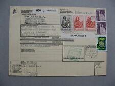 SWITZERLAND, parcelpost card 1976, mixed franking, ao 2x 20 Fr Johannes (4)