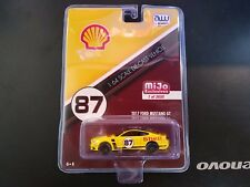 AUTO WORLD 1:64 2017 FORD MUSTANG SHELL RACING DIECAST CAR CP7439 MIJO EXCLUSIVE
