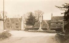 Great Barrington War Memorial Nr Burford unused RP old pc Percy Simms