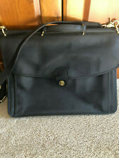 Vintage Coach Blac Leather Turnlock Huge Briefcase Messenger Bag