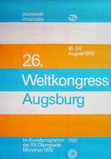 Olympische Spiele 1972 München Motiv 26. Weltkongress Augsburg Farbdesign Aicher