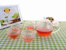 5in1 Japanese-style Crystal Tea Set - 300ml Heat Resistant Glass Tea Pot +4x Cup