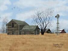 Billy Jacobs Forgotten fields farm County Barn Art Print 16 x 12