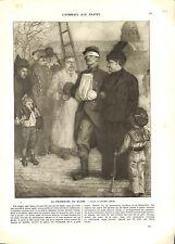 WWI Poilus Promenade Soldats Blessés Invalides Paris Lucien Jonas B ILLUSTRATION