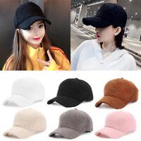 Women Men Winter Adjustable Hat Snapback Baseball Warm Cap Sports Faux Fur Hats
