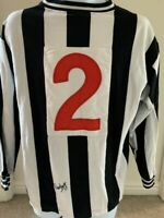 Signed David Craig Newcastle United Autograph Retro No.2 Shirt + Proof