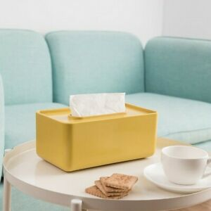 Simple Solid Color Tissue Box Living Room Tissue Paper Plastic Storage Box