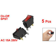 5 pcs Red IllumInated Light On/Off SPST Boat Rocker Switch 15A 250V AC LW SZUS