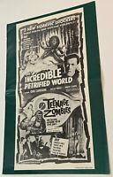 TEENAGE ZOMBIES Rare 1959 HORROR FILM PRESSBOOK The Incredible Petrified World